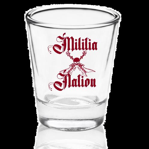Militia Nation Shot glass