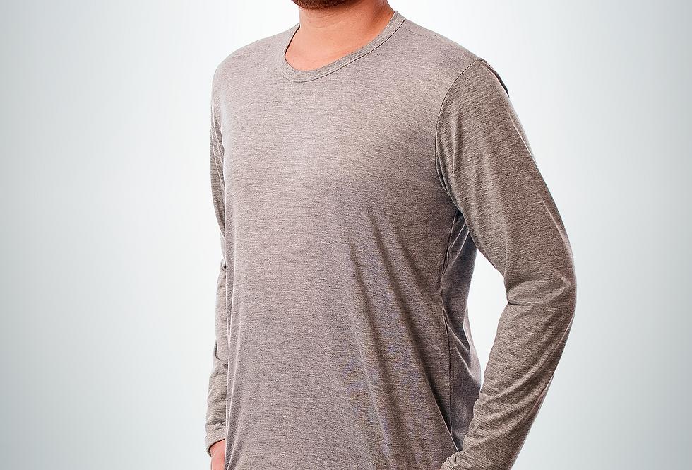 Camiseta de malha manga longa