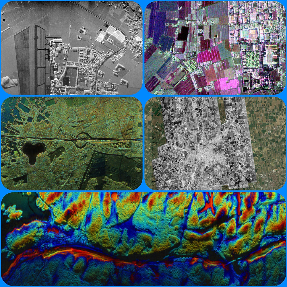SAR images X-Band very HR C-Band Interferrogram L-Band Mosaik Biostatic