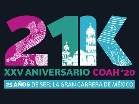Se pospone XXV aniversario del 21K Coah para el 2021