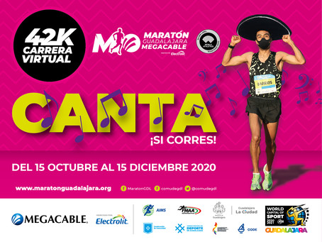42K Carrera virtual Maratón Guadalajara  Megacable