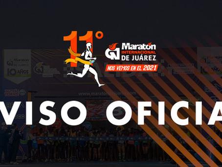 Por COVID-19 se cancela el Maratón Internacional de Juárez y el Maratón Internacional Tangamanga