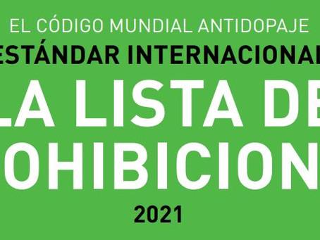 WADA - Lista de Prohibiciones 2021
