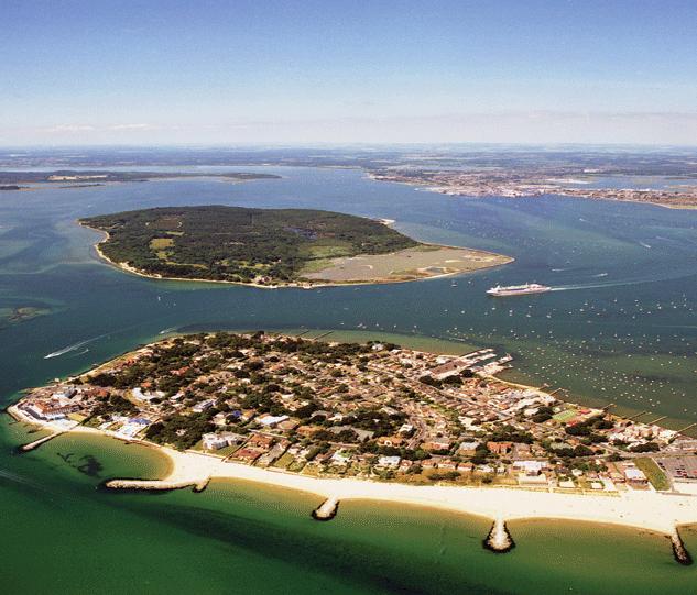 Poole Harbour aerial