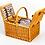 Thumbnail: 両開きAll in One Picnic Basket(2人用)保温・保冷クーラーバッグ付き