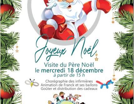 Visite du Père Noël pour les enfants hospitalisés.