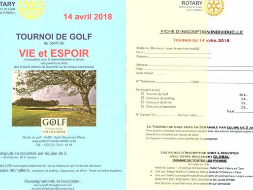 Tournoi de golf au profit de Vie et Espoir