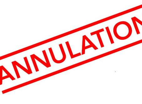 ANNULATION: Assemblée générale 27 mars 2020.