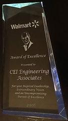 Walmart Award of Excellence CEI Engineering Associates