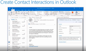 NAV 2018 - What's New - Create Contact Interactions in Outlook