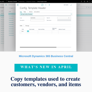 You can now copy existing data templates when you create new ones. Data templates (configuration templates) can be used to quickly create cards for customers, vendors, items, or contacts.