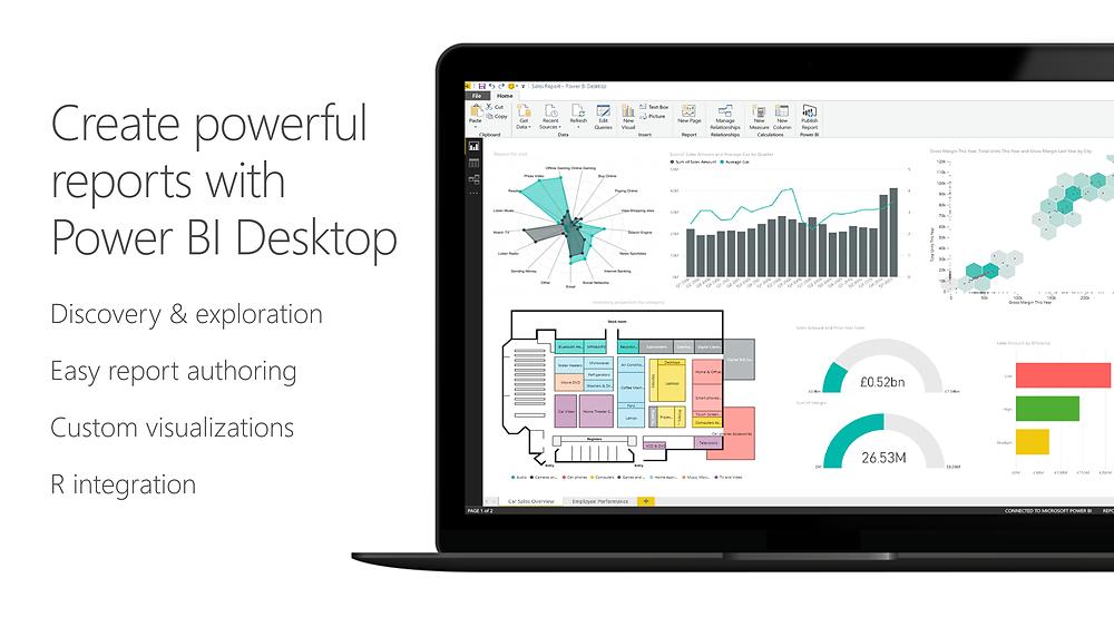 Create powerful reports with Power BI Desktop