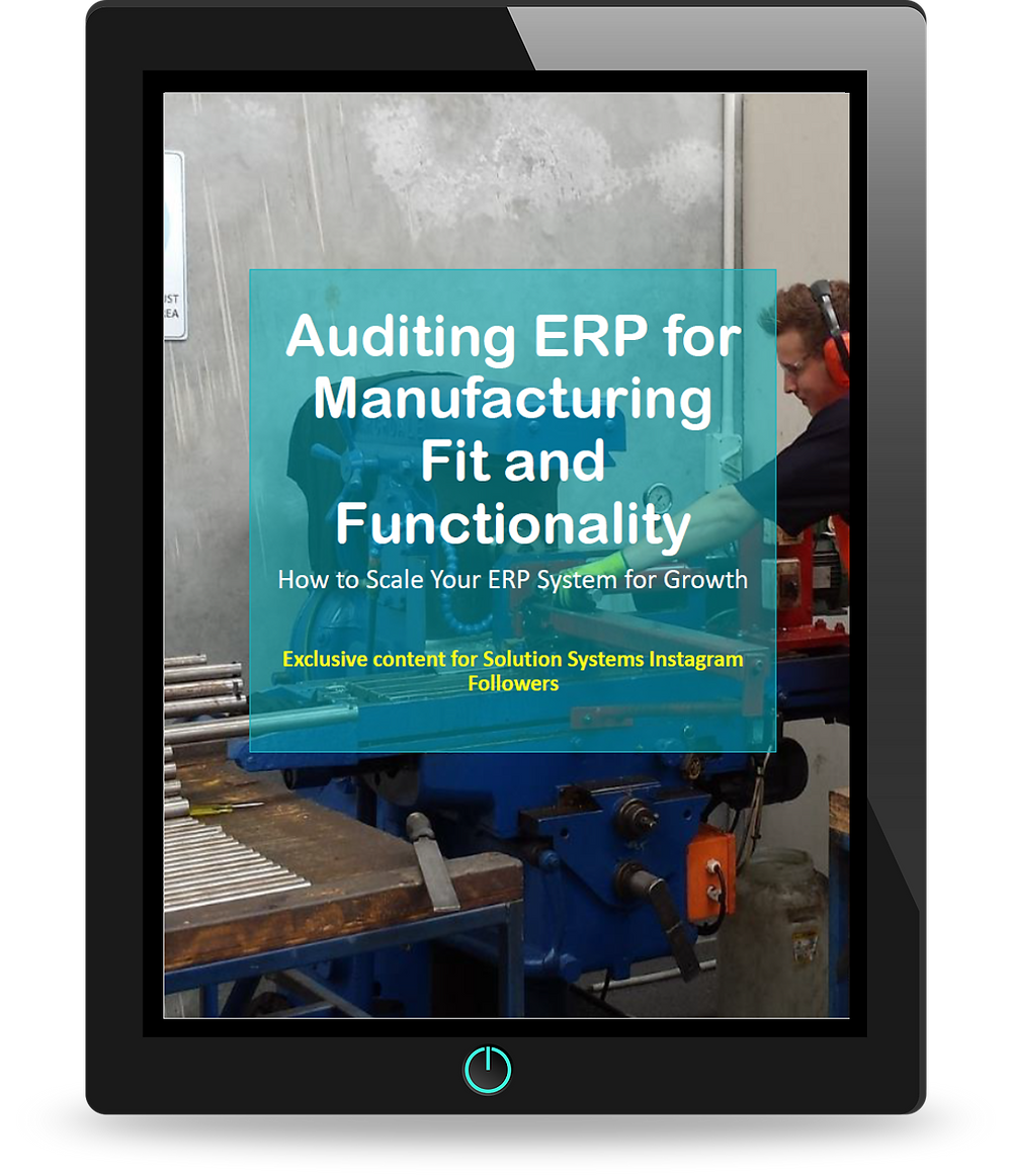 Auditing ERP for Manufacturing Fit and Functionality