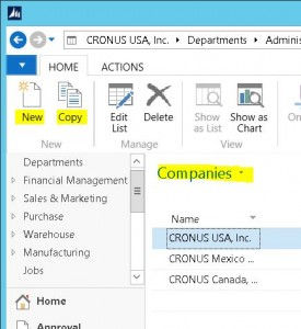 Creating and Copying Companies in NAV 2013 R2