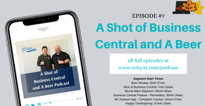 A Shot of Business Central and A Beer - Episode 7