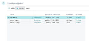 Manage Features on your own time in Dynamics 365 Business Central