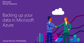 Backing up your data in Microsoft Azure