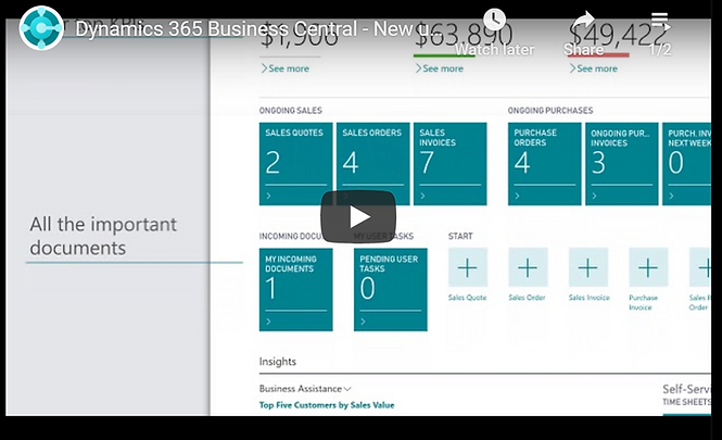 Business Central ERP Demo Video