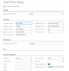 STEP 2: Cash Flow Setup – defines overall settings for how Cash Flow will be calculated.