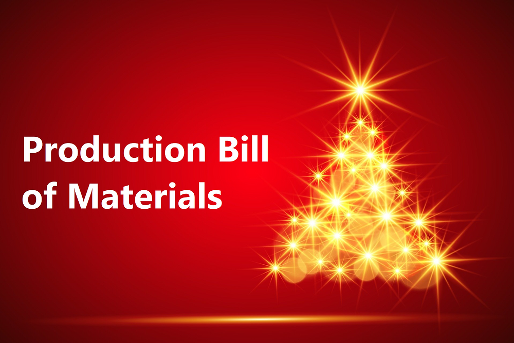 Business Central Manufacturing Production Bill of Materials