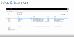 NAV 2018 - What's New - Setup & Extensions