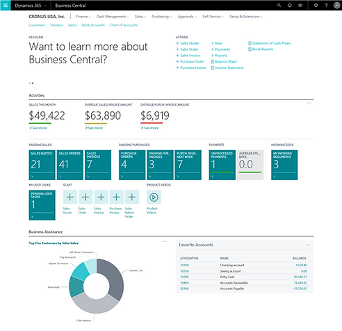 dynamics 365 business central is live solution systems business