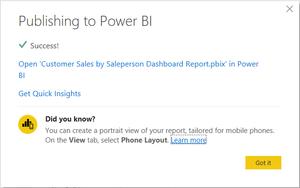 Publish Power BI Desktop data to Power BI cloud portal.