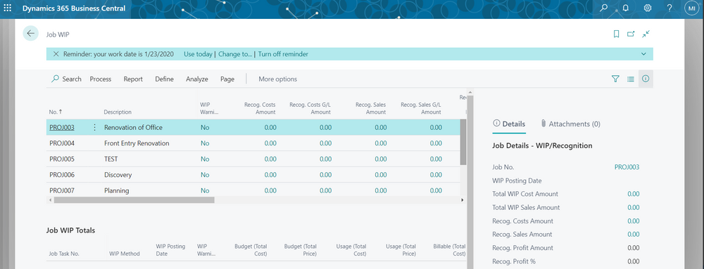 Job WIP Functionality in Business Central (Part 3 of 3)