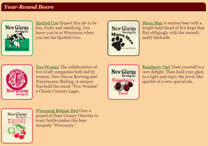 New Glarus Brewing Company Year Round Beers