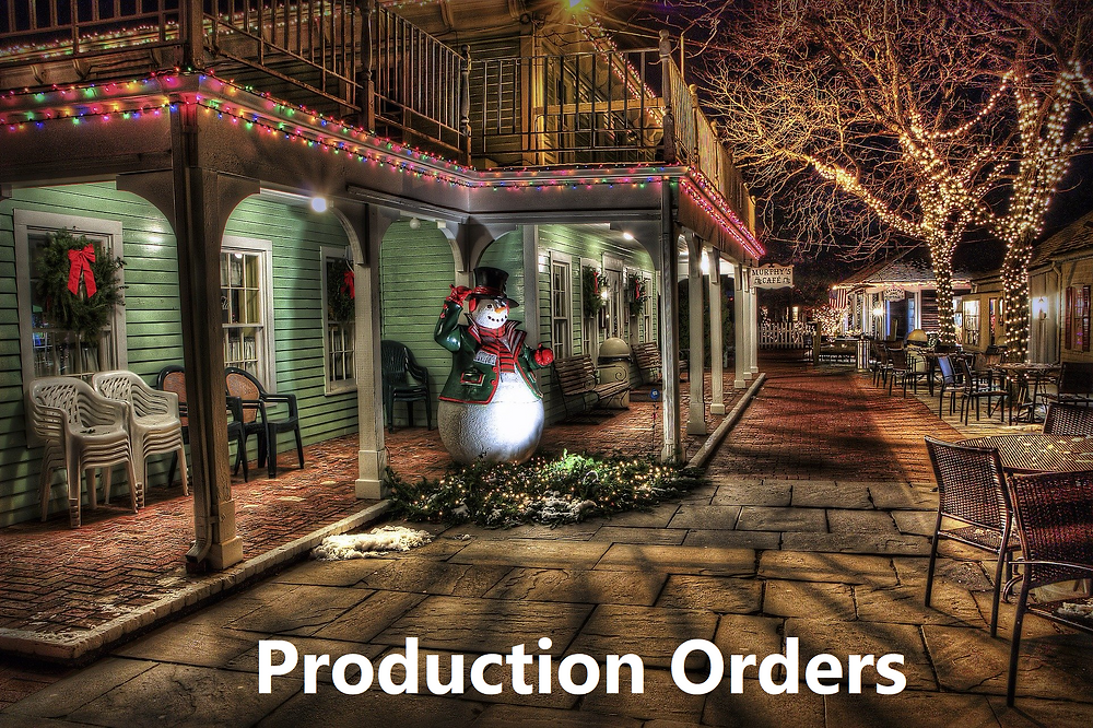 Business Central Manufacturing Production Orders
