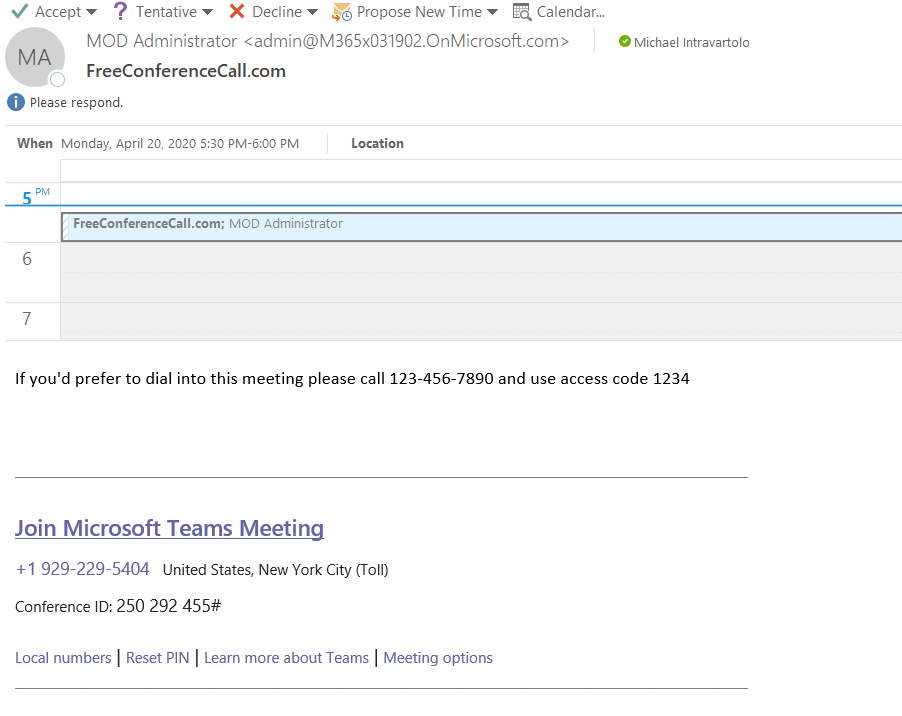 Adding a phone number to a Microsoft Teams meeting