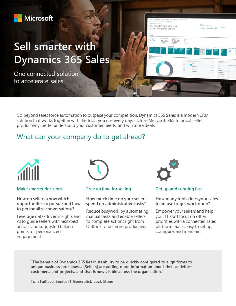 Microsoft Dynamics 365 Sales