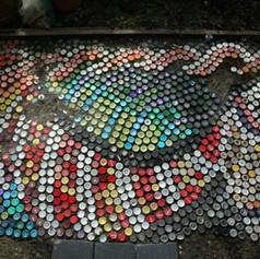 Bottle top mosaic