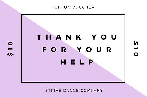 $10 Tuition Voucher