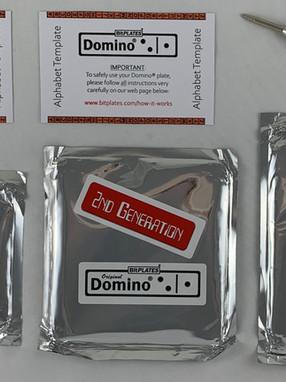 The Domino® Bitcoin Steel Plate Backup