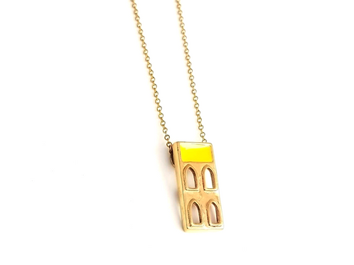 Persian House Inspired Bronze And Yellow Long Necklace
