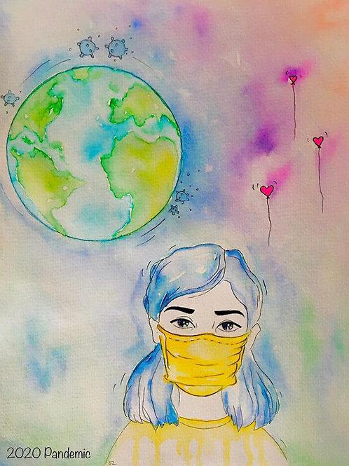 Love is Stronger than Fear(Original Illustrative Art)