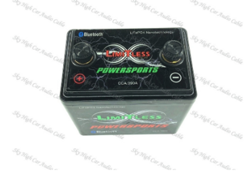 Limitless Lithium 5ah Powersports 260 CCA LiFePO4 Battery Bluetooth