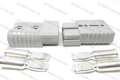 175a/600v Pair Connector W/ Contacts 8GA
