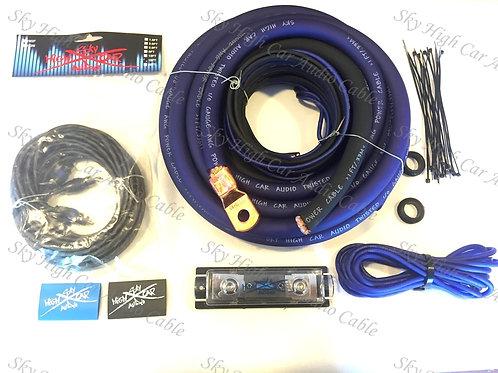 Sky High Car Audio 1/0 CCA Amp Kit