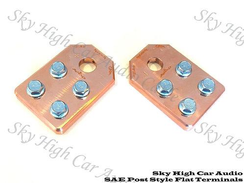Copper Sky High Car Audio SAE Flat 4 Spot Battery Terminals