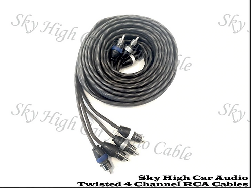 Sky High Car Audio Twisted 4-Channel RCA 12ft-20ft