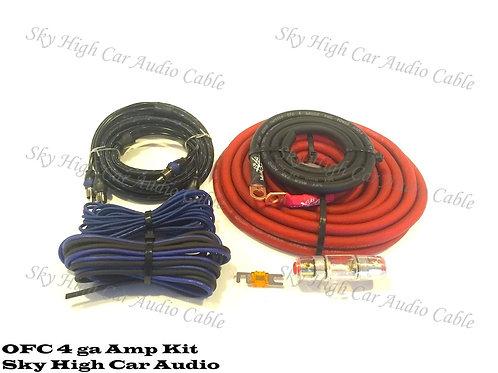 Sky High Car Audio 4 OFC Amp Kit