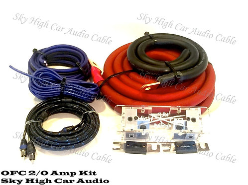 Sky High Car Audio 2/0 OFC Amp Kit