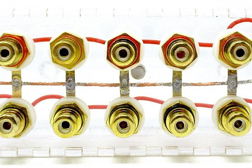 SHCA Clear 1 to 8 RCA Distribution block