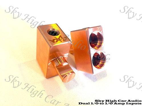 Sky High Car Audio Copper Dual 1/0 to 1/0 Gauge Inputs