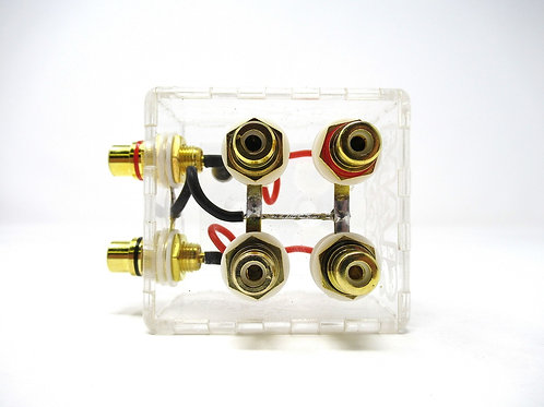 SHCA Clear 1 to 2 RCA Distribution block