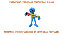Rest and re-energise to combat  the pressure of goals and deadlines