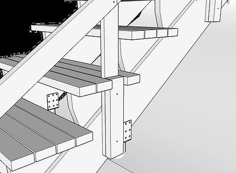 Infästning räcke trappa