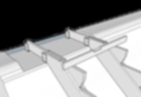 Trappa i slänt med vattenpass